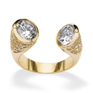 Cubic Zirconia & Crystal Open Ring