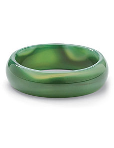 Green Jade Bangle Bracelet by PalmBeach Jewelry