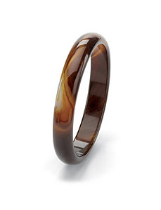 Brown Chalcedony Bangle Bracelet by PalmBeach Jewelry