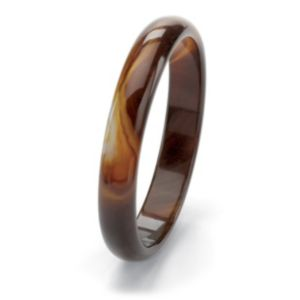 Brown Chalcedony Bangle Bracelet