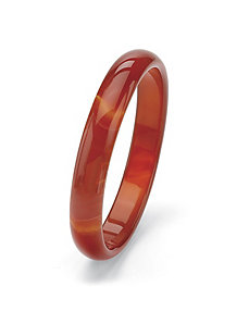 Red Jade Bangle Bracelet by PalmBeach Jewelry