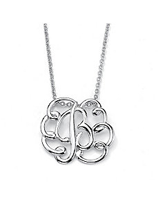Personlized Swirl Pendant by PalmBeach Jewelry