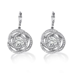 Cubic Zirconia Pierced Earrings