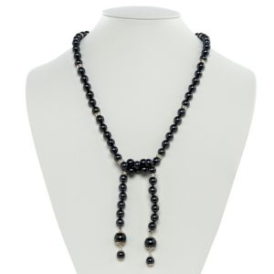 Grey Simulated Pearl Necklace