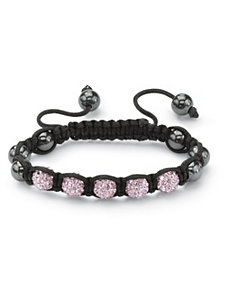 Petite Pink Crystal Ball Bracelet by PalmBeach Jewelry