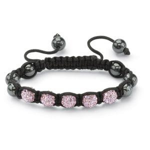 Petite Pink Crystal Ball Bracelet