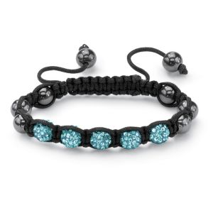 Petite Blue Crystal Ball Bracelet