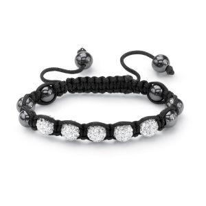 Petite White Crystal Ball Bracelet