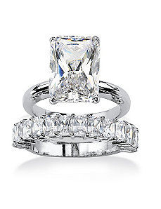 Cubic Zirconia Bridal Ring Set by PalmBeach Jewelry