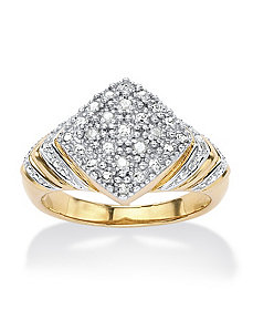 Diamond Accent Square-Shaped Ring by PalmBeach Jewelry