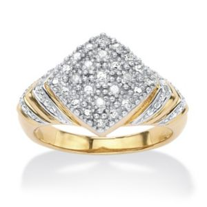 Diamond Accent Square-Shaped Ring