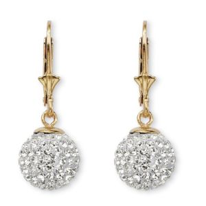 18k Gold over Silver Crystal Earrin