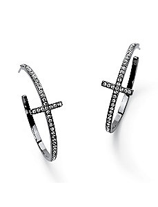 Crystal Hoop Earrings by PalmBeach Jewelry