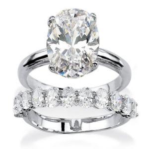 Cubic Zirconia Bridal Ring Set
