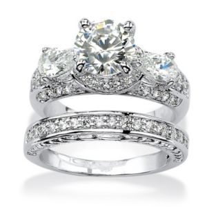 Cubic Zirconia Bridal Ring Set