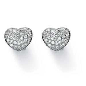 Cubic Zirconia Pierced Earrings