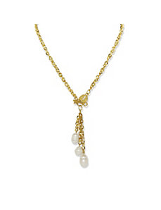 Pearl Lariat-Style Necklace by PalmBeach Jewelry