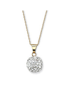 10k Gold Crystal Pendant and Chain by PalmBeach Jewelry