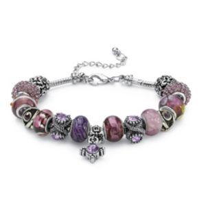 Glass and Crystal Charm Bracelet