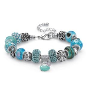 Glass and Crystal Charm Bracelet