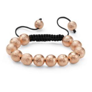Rosetone Macrame Bracelet