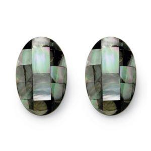 Mother-Of-Pearl Pierced Earrings