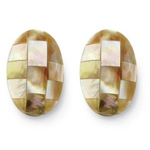 Mother-Of-Pearl Pierced Earrings