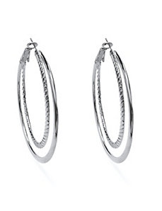 Hoop Pierced Earrings by PalmBeach Jewelry