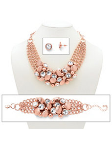 Rhinestone & Bead Circle Jewelry by PalmBeach Jewelry