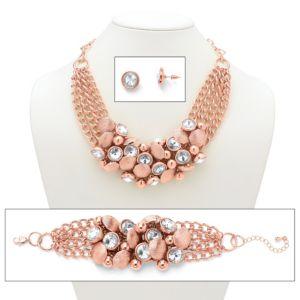 Rhinestone & Bead Circle Jewelry