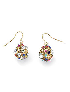 Crystal Drop Pierced Earrings by PalmBeach Jewelry