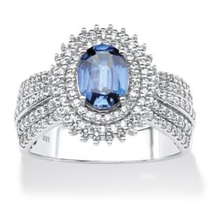 Lab-Created Sapphire and Cubic Zirc