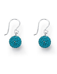 Birthstone Drop Pierced Earrings by PalmBeach Jewelry