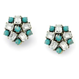 Sim. Turquoise & Crystal Earrings