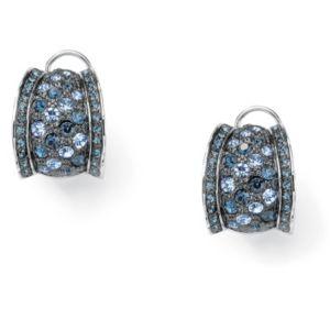 Crystal Pierced Omega Back Earrings