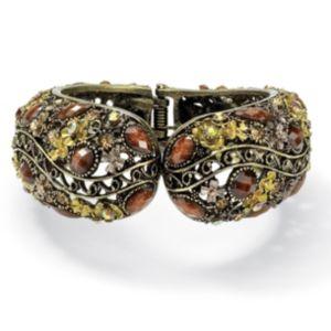 Crystal Hinged Cuff Bracelet