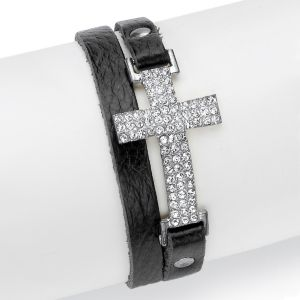 Crystal and Leather Bracelet