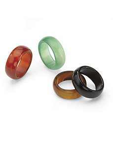 Jade Ring Set by PalmBeach Jewelry