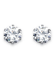 Cubic Zirconia Stud Earrings by PalmBeach Jewelry
