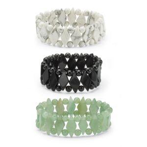 Jade Stretch Bracelet Set