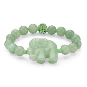 Green Jade Elephant Bracelet
