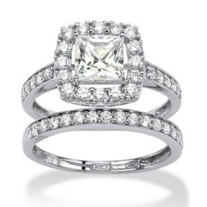 Cubic Zirconia Ring Set