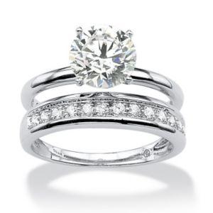 Cubic Zirconia Wedding Ring Set