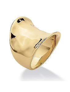Concave Cigar Band Ring by PalmBeach Jewelry