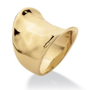 Concave Cigar Band Ring