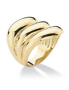 Triple-Row Band Ring by PalmBeach Jewelry
