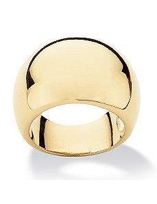 Dome Ring18K Gold-Plated by PalmBeach Jewelry