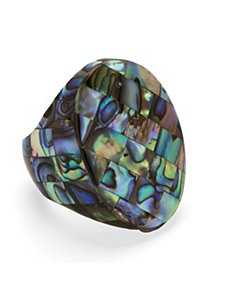 Abalone Oval Mother-Of-Pearl Ring by PalmBeach Jewelry