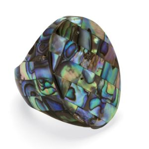 Abalone Oval Mother-Of-Pearl Ring