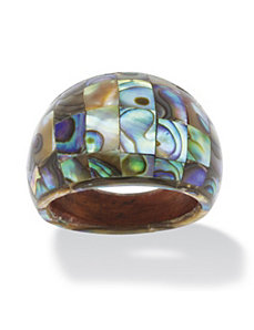 Abalone Mother-Of-Pearl Dome Ring by PalmBeach Jewelry